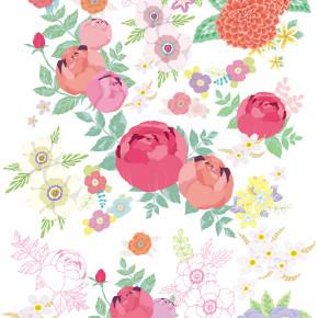 書くだけでダイエットダイアリー|表紙のお花を描く