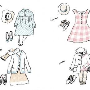 衣類ケアブックの絵