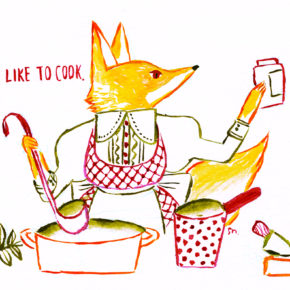 I don't like to cook.|絵