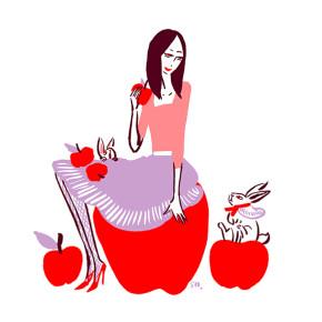 ELLE Online|りんご特集|イラスト